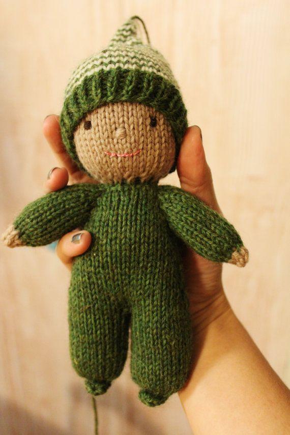 Mini Elf Knitting Pattern : 296 best Knit Blankets Toys images on Pinterest Knit ...