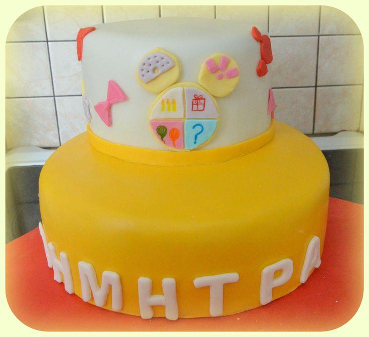 """Έτοιμη η τούρτα να """"υποδεχθεί"""" την Minnie και τους φίλους τους. The cake is ready, now all has to be done is to put Minnie and her friends on it"""