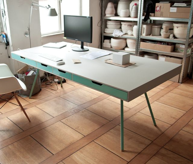 this desk needs to be mine. architect's table by 45 Kilo