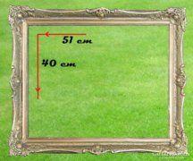 0A608 Antik blondel képkeret 40 x 51 cm