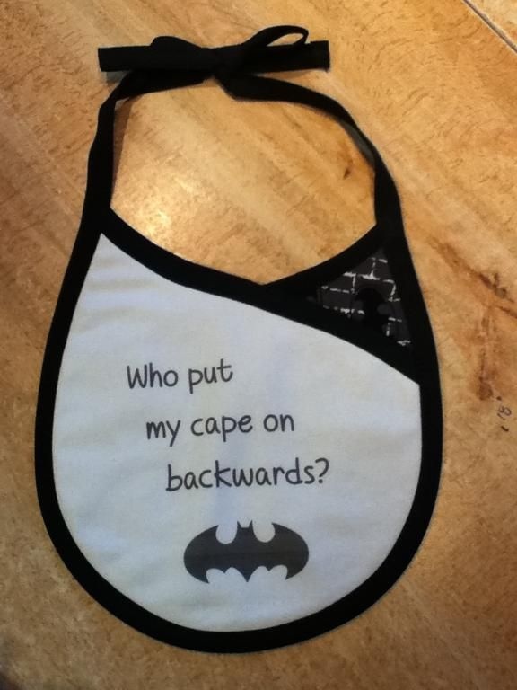 Looking for sewing project inspiration? Check out Crossover Style Baby Bib - Batman by member mjpowell. - via @Craftsy from the pattern by So Sew Easy