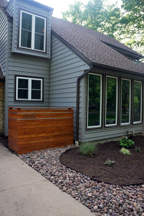 Look at what Lucas built! It makes me happy every time I pull into the drive. This cedar plank screen wall was my Mother's Day present and it was a lot of fun designing it together. It is a nice b...