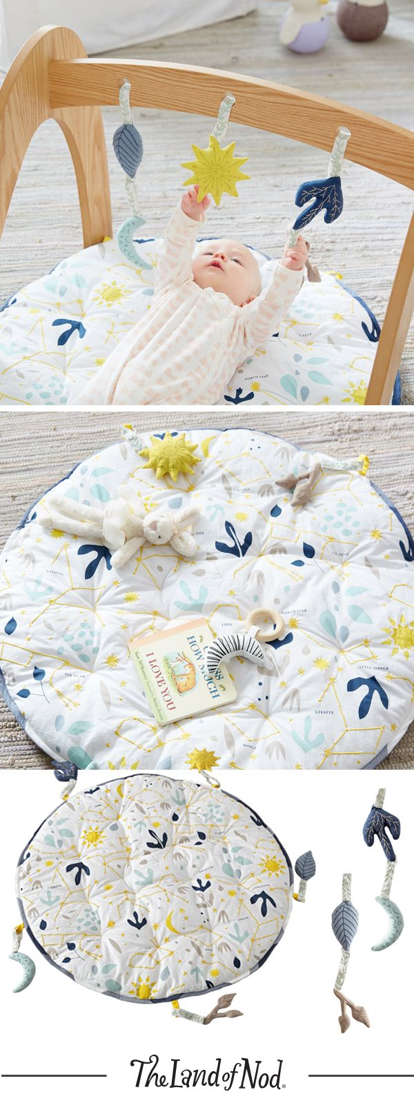 Get ready for the ultimate tummy time with our Genevieve Gorder for Nod baby play mat and rattles.