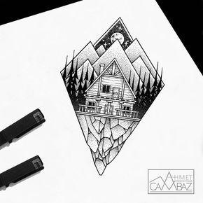 #tattoo #vscocam #vsco #design #tattoodesign #blackandwhite #blacktattoo #tattoooftheday #dovmemodelleri # draw…