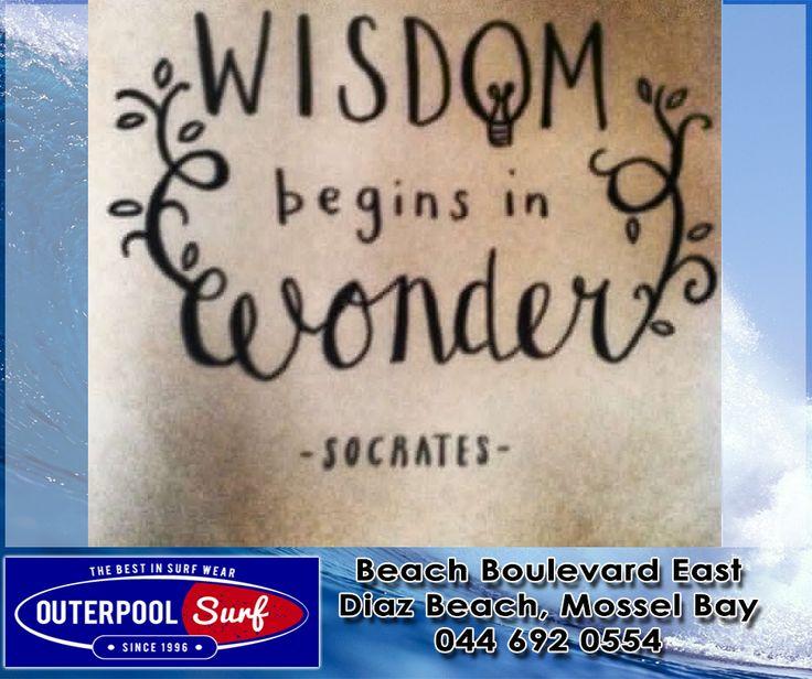""""""" Wisdom begins in wonder."""" - Socrates.  #Quotes #Wonder #Wisdom"""