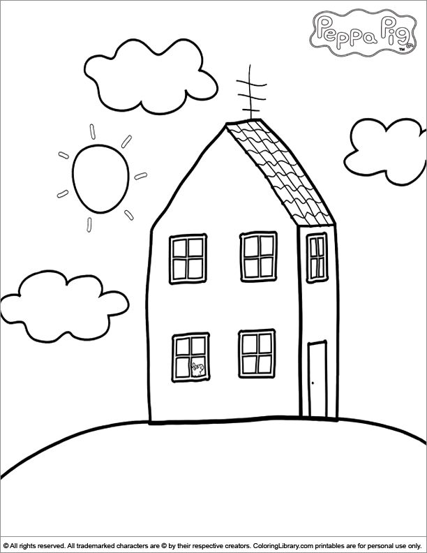 peppa pig coloring pages in the coloring library - Peppa Pig Coloring Pages