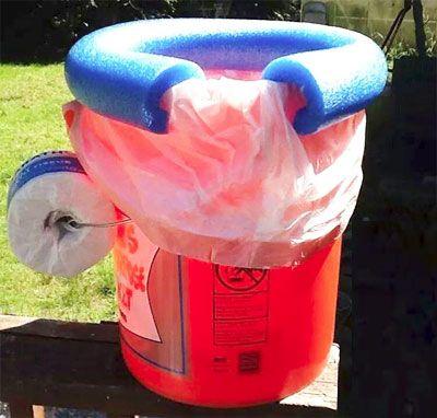 Para los que están cansados de que se les salga la bolsa del tacho de basura!