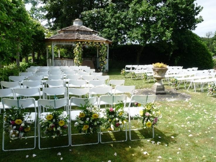 Ceremony At The Garden Gazebo