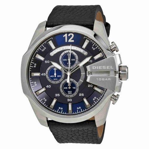 5353622ab40 Diesel Mega Chief Chronograph Navy Blue Dial Men s Watch DZ4423 ...