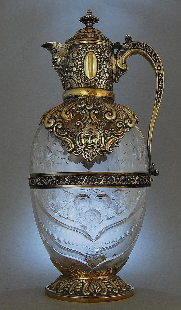 Charles Edwards - London 1889    Stourbridge Glass, designed by John Orchard