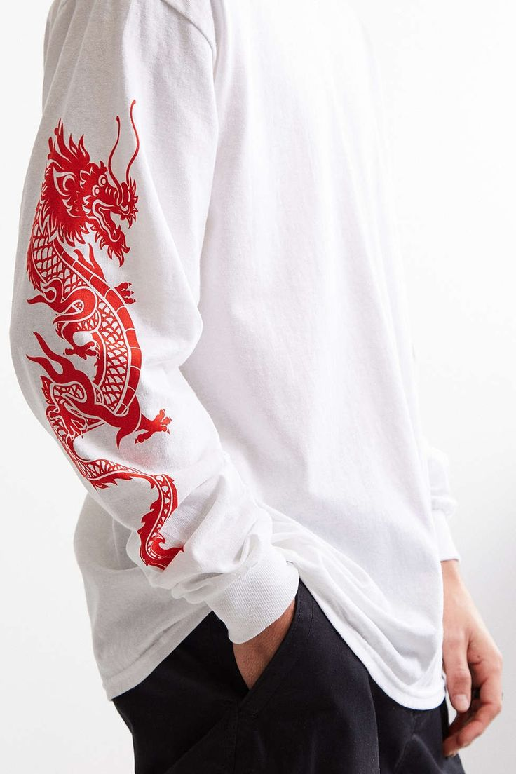 Dragon Sleeves Long Sleeve Tee - Urban Outfitters