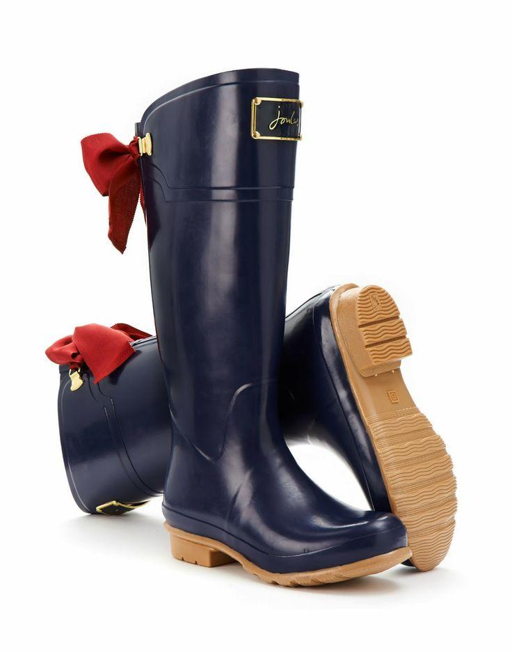 joules navy rain boots <3