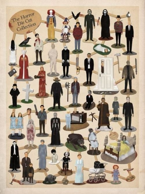 The horror die cut collection