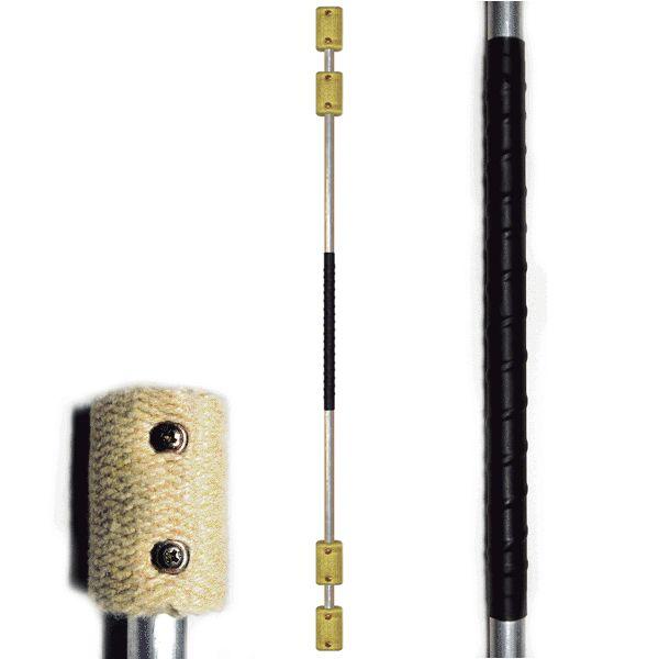 FIRE SPINNING STAFF: 140cm/1400mm (55 inch) with 65mm (2.5inch) DOUBLE wicks (KEVLAR) - $70 - Fyregear AUSTRALIA www.fyregear.com