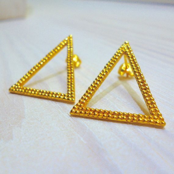 Hey, I found this really awesome Etsy listing at https://www.etsy.com/listing/270794620/big-triangle-earrings-stud-earrings