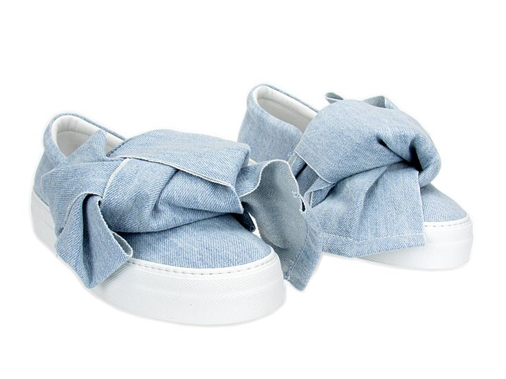 JOSHUA*S SS 2017. AZURE DENIM BOW. Slip On Double Sole. Boutique MONTORSI in Via Emilia Centro 87 a Modena.  #Joshuas #JoshuaSanders #MontorsiBoutique #FasionStoreMontorsi #Modena #Italy