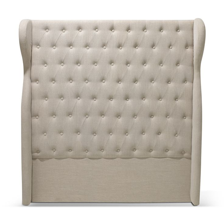 Wingback Chesterfield Bedhead Double Size Taupe