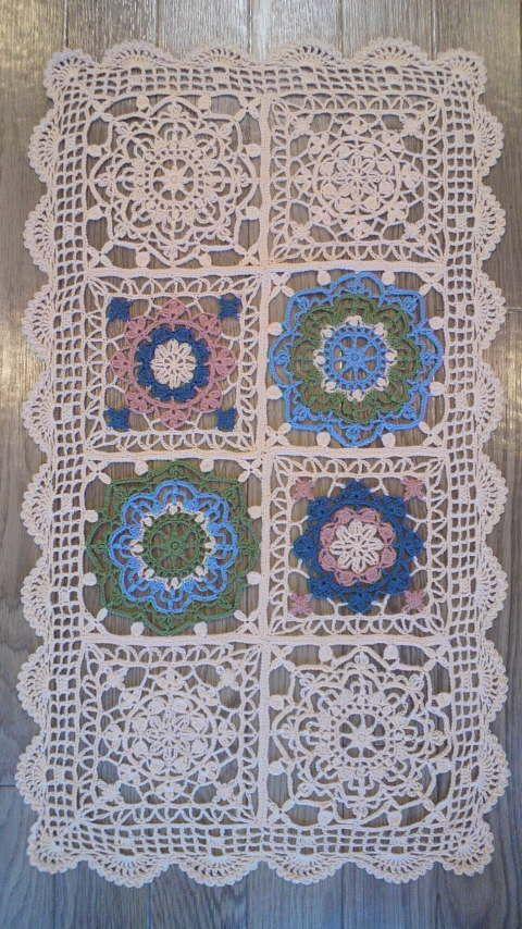 Afbeelding van de Turkse tegel-stijl kant acht gelijkspel in GoHoso wol   Wildflowers Handicraft verhaal