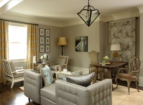 New Best Paint Color for Living Room with Brown Furniture