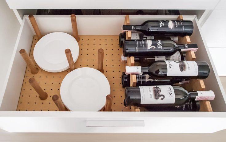 Органайзер посуды, тарелок, бутылок для выдвижных кухонных ящиков  Cutlery Tray, Filling of drawers  http://ergobox.com.ua/