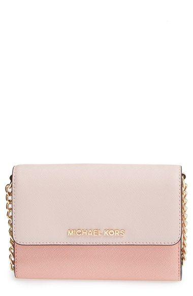 MICHAEL Michael Kors \u0027Jet Set Travel\u0027 Saffiano Leather Crossbody Bag  available at #Nordstrom