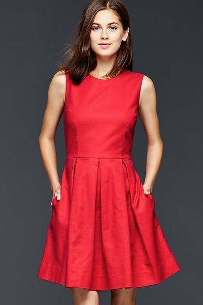 Robe cocktail rouge 2015