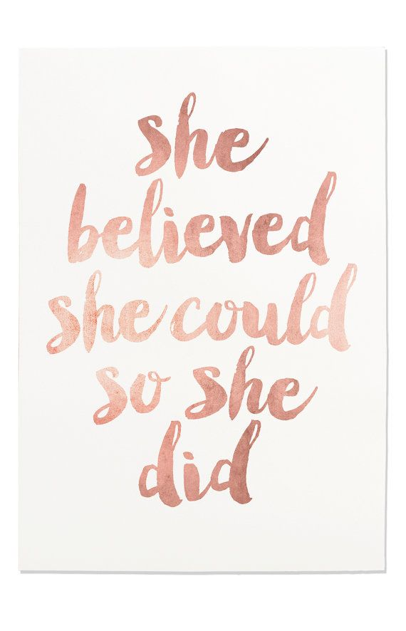inspirational print she believed she could so by fleurtcollective - Colour Print Out