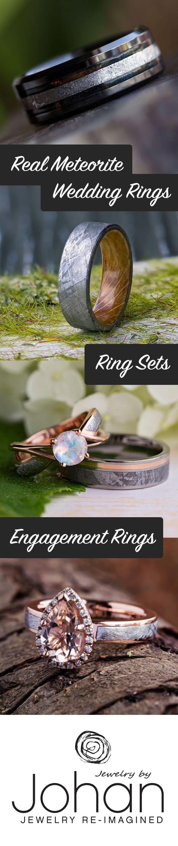 Meteorite Wedding Bands And Meteorite Engagement Rings Are Always  Oneofakind
