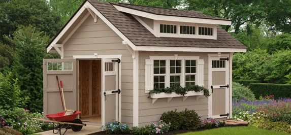 17 best ideas about craftsman sheds on pinterest sheds for Craftsman style storage sheds