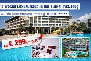 5-Sterne Hotel Aska Washington Resort, Türkei. Bis zu 5% Cashback bei Ab in den Urlaub Deals 1€ Cashback für Buchungen bis 25€ 5% Cashback für Ihre Buchung ab 25€ #reisen #urlaub #flug #hotel