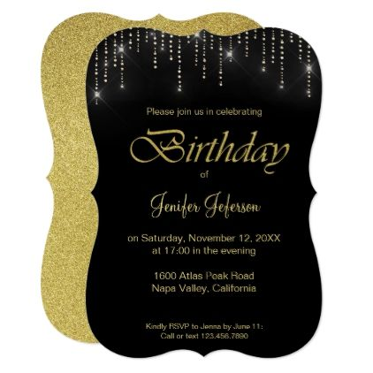 Glitter pattern Birthday Invitation - glitter glamour brilliance sparkle design idea diy elegant