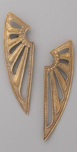Alkemie-Deco Wings Earrings @ shopbop