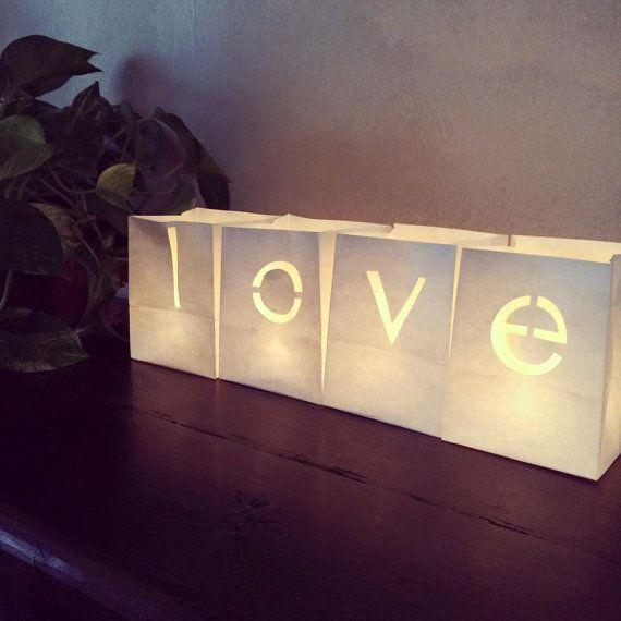 Faroles de papel de amor