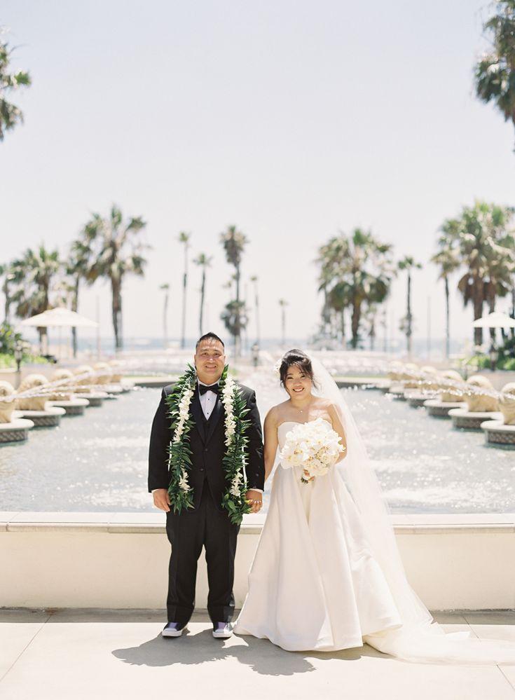 Elegant Outdoor Wedding at Hyatt Huntington Beach | Southern California wedding venues (Caroline Tran Photography)