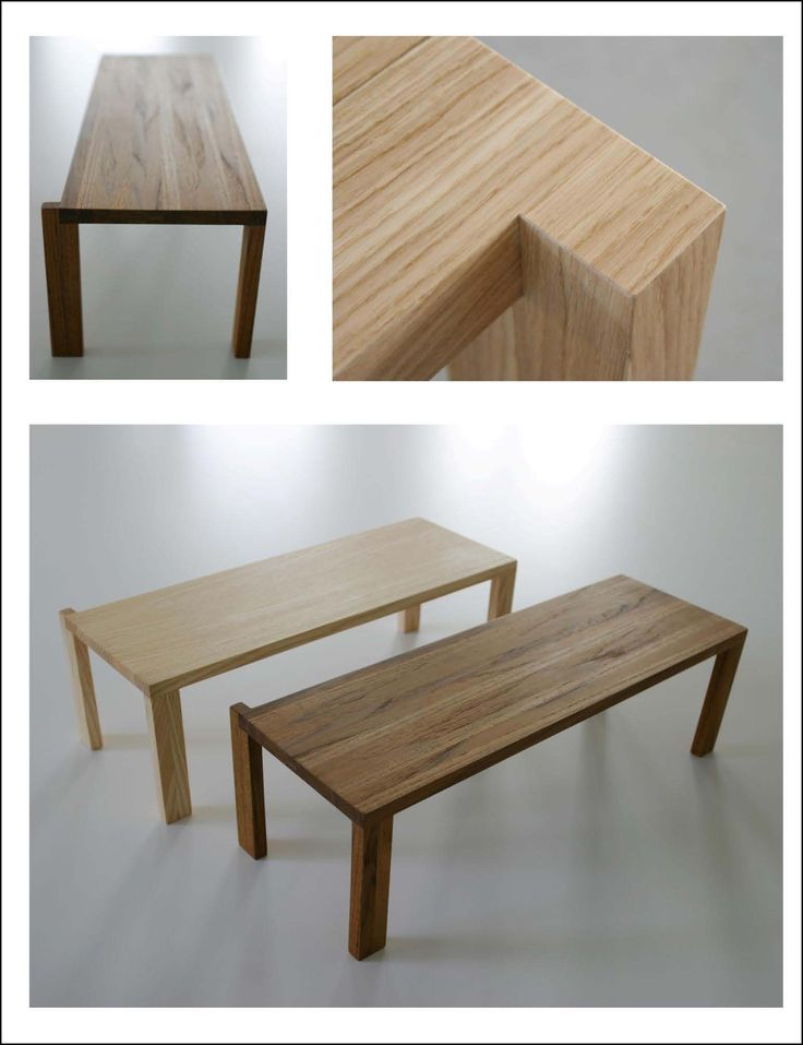 Table Space Wood Table Measures: 200 x 80 x 5 cm; made of solid built wood with glued square lists; square side of 6 cm.  Various materials: maple, ash, oak, walnut, wenge', beech.
