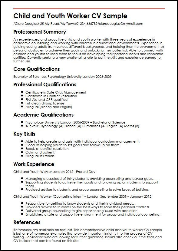 Resume Examples Youth Worker Examples Resume Resumeexamples Worker Youth Youth Worker Resume Examples Job Resume Examples
