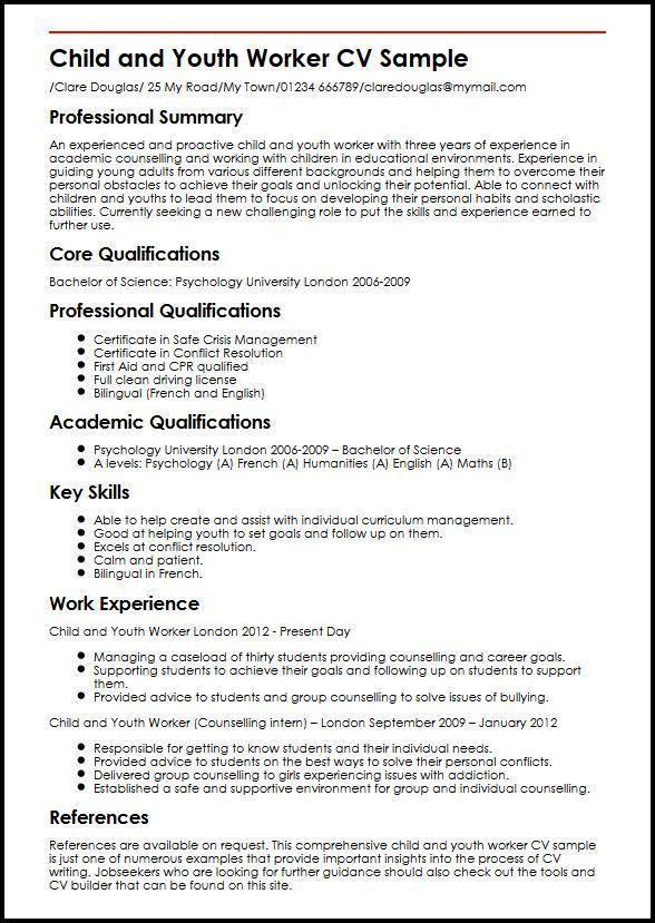 sample resume career profile