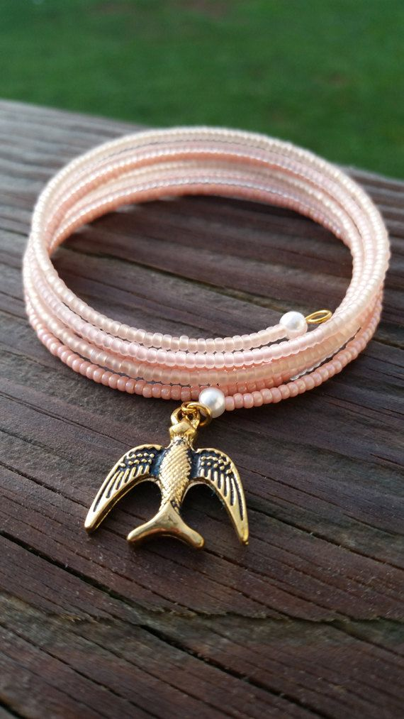 Hey, I found this really awesome Etsy listing at https://www.etsy.com/listing/200695762/pink-miyuki-seed-bead-bracelet-w-sparrow