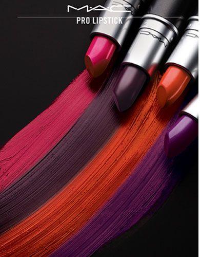 MAC PRO Lipstick Swatches, Photos