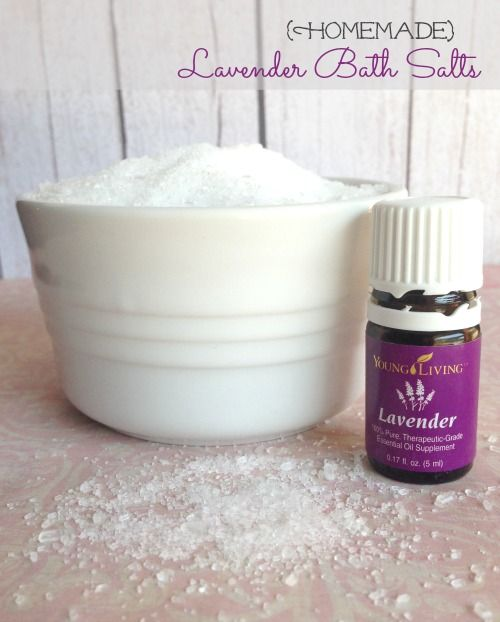 DIY Lavender Bath Salts Recipe! Only 2 Ingredients and SO relaxing! Simple and easy!