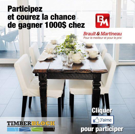1,000$ chez Brault et Martineau - Quebec echantillons gratuits