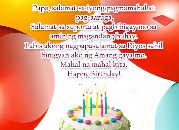 Birthday Message For Father From Daughter In Tagalog Birthday Message For Father Message For Father Fathers Day Wishes