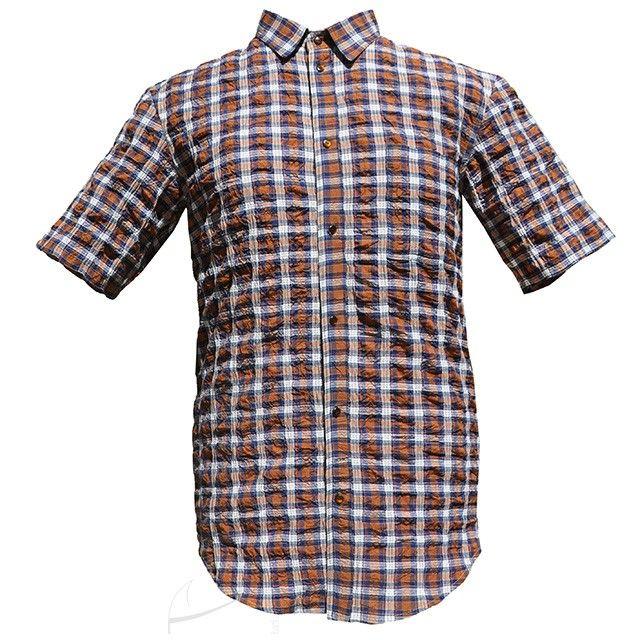 Koszula męska w kratkę, do zamówienia w dowolnym rozmiarze i fasonie w butiku Łatka fashion.