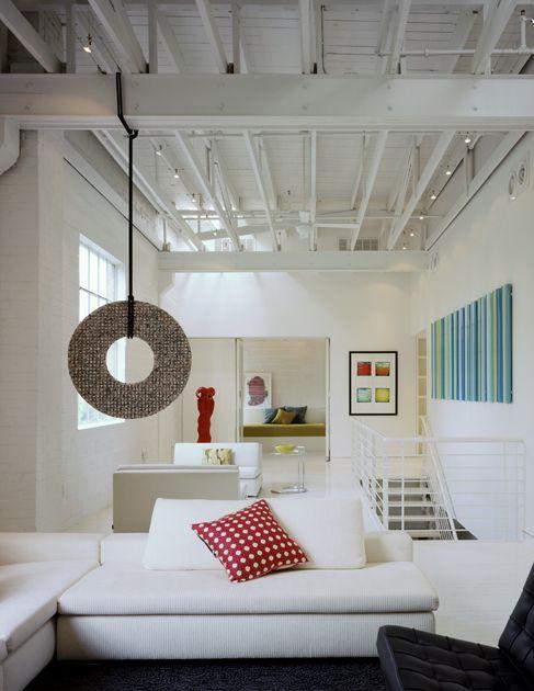 The Living Area In A San Antonio Loft, Renovated By San Antonio Architect  Jim Poteet