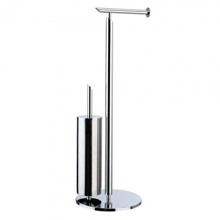 Soakology Astute Toilet Roll & Brush Holder - Chrome