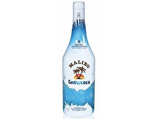 Limited Edition Malibu Snowcoco Rum With Real Coconut Flakes | Alcoholic Drink