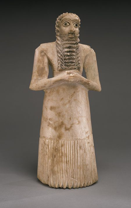 Standing male worshipper, 2750–2600 B.C.; Early Dynastic period II; Sumerian style