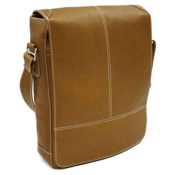 Piel Leather Urban Vertical Messenger Bag - 17585054 - Overstock Shopping - Great Deals on Messenger Bags