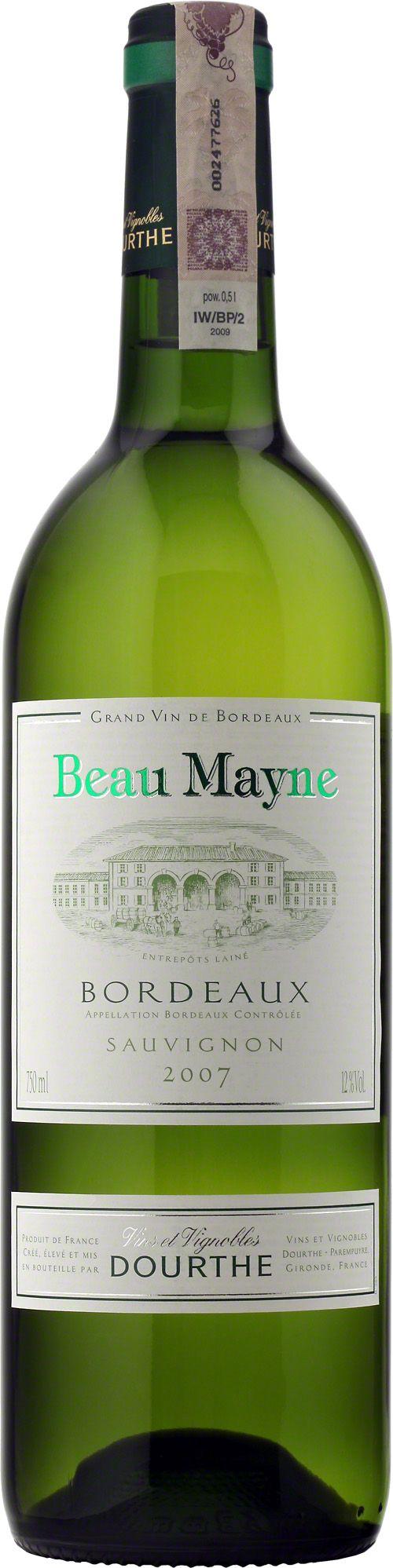 Dourthe Beau Mayne Bordeaux A.O.C. Blanc Beau Mayne zachwyca jasną, cytrynowo-zielonkawą barwą i delikatnym, owocowo-kwiatowym bukietem. Świeże i eleganckie, ma żywy, harmonijny finisz. #Bordeaux #Wino #Winezja #SauvignonBlanc