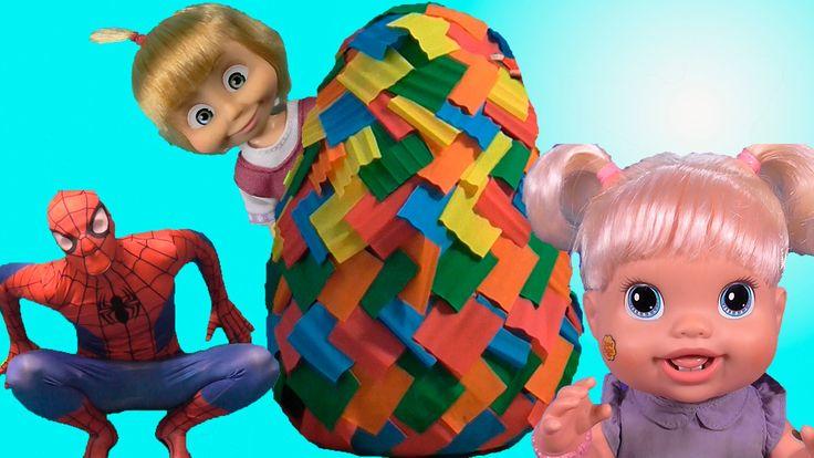 Маша и Медведь Куклы Пупсики Бэби Элайв Гигантское яйцо сюрприз Дочки-Ма...
